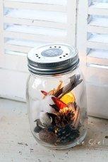 画像4: GLASS JAR WITH LED S フタ穴あり (4)