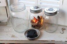 画像5: GLASS JAR WITH LED S フタ穴あり (5)
