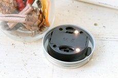 画像3: GLASS JAR WITH LED S フタ穴あり (3)
