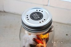 画像2: GLASS JAR WITH LED S フタ穴あり (2)