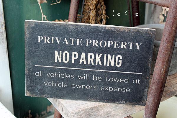 画像1: WOOD sign board NO PARKING (1)