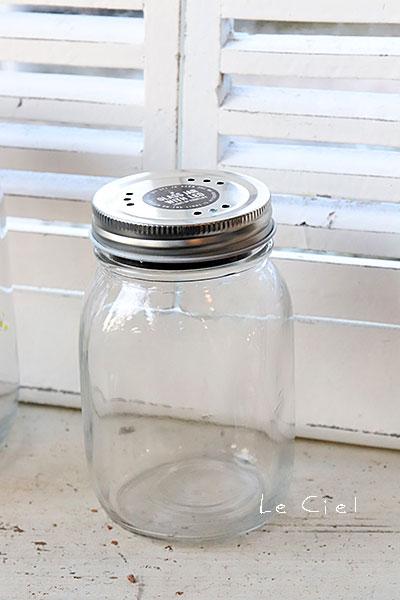 画像1: GLASS JAR WITH LED S フタ穴あり (1)